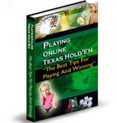 Product picture PLAYING ONLINE TEXAS HOLDEM WITH PLR