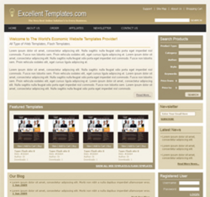 Product picture Five HTML Website Template With PLR